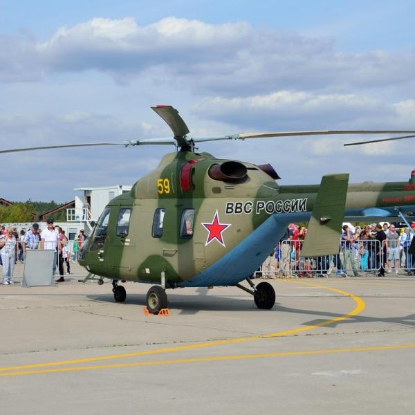 5.Вертолет Ансат-У на стоянке.
