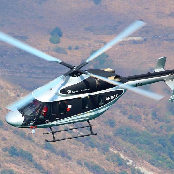5а.Вертолет Ансат в полете.