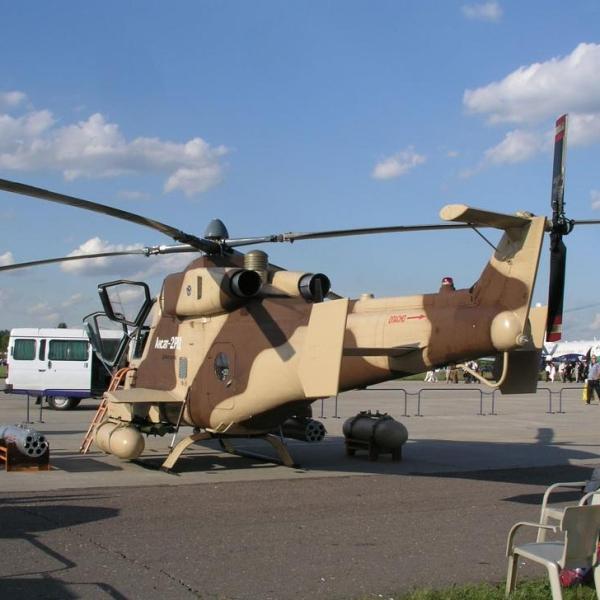 6.Легкий ударный вертолет Ансат-2РЦ.