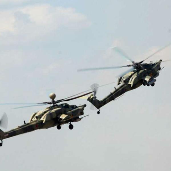 6.Полет Ми-28Н и Ми-28А в паре.