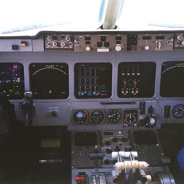 6.Приборная панель кабины Ил-96М.
