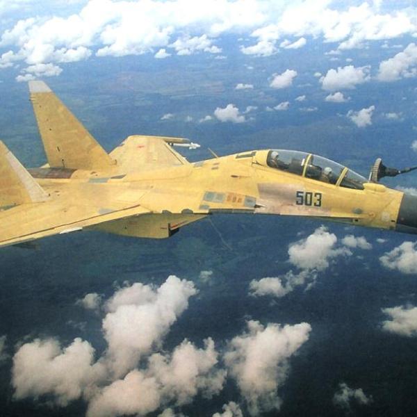 6.Третий опытный Су-30МКК. Испытания системы дозаправки.