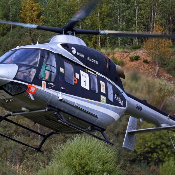 6.Вертолет Ансат заходит на посадку.