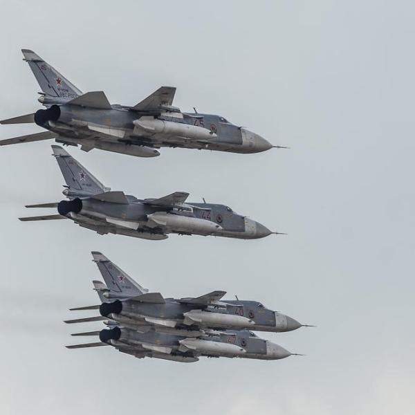 6.Звено бомбардировщиков Су-24М2 ВВС России.