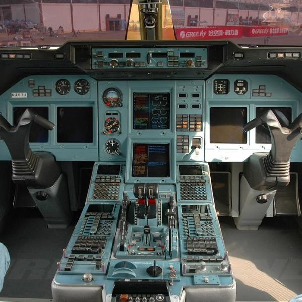 7.Кабина Ту-204.