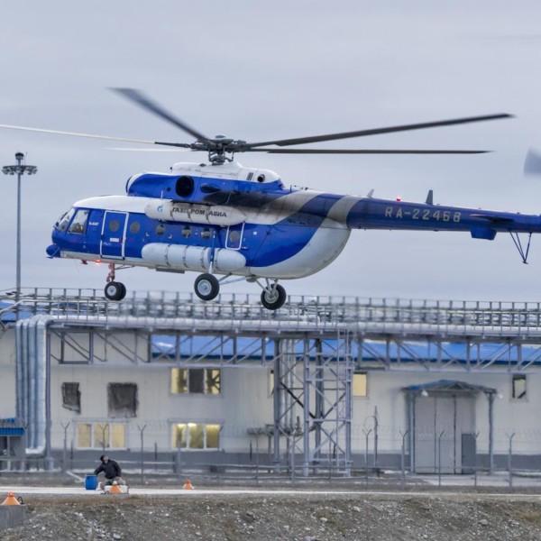 7.Ми-8АМТ Газпромавиа. Воркута, осень 2015 г.