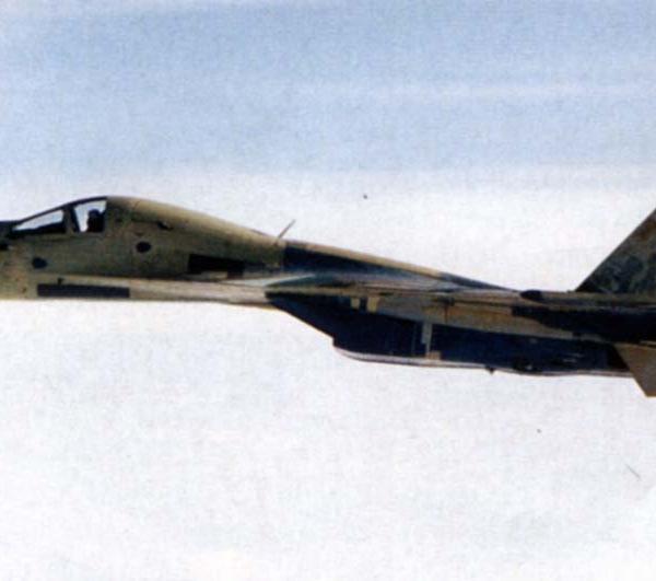 7.Су-33КУБ в полете.