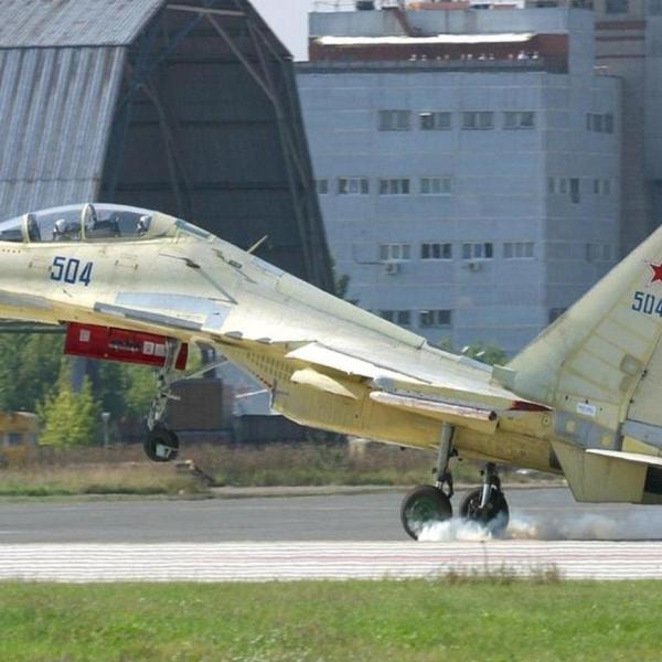 7а.Четвертый опытный Су-30МКК на взлете.