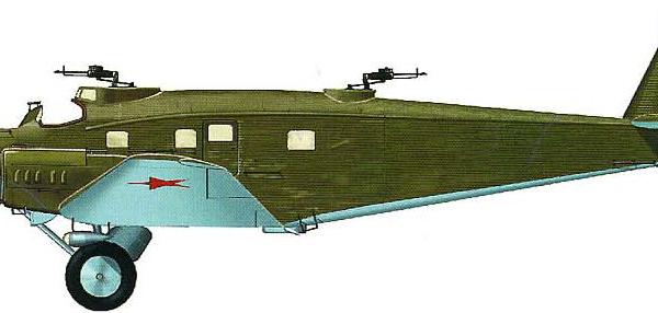 8.Бомбардировщик ЮГ-1. Рисунок.