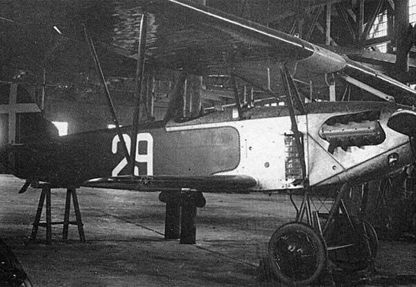 8.Fokker D.XIII (ФД-XIII) ВВС РККА в ангаре Липецкого авиацентра.