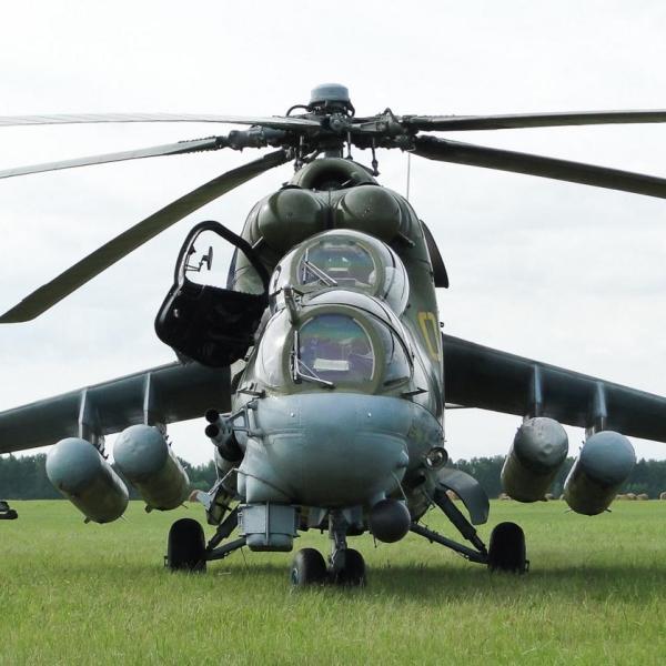 Ми-24ПК-2 с подвесными топливными баками. 2