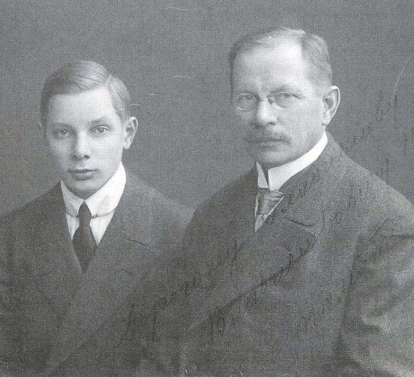 Ю.А.Меллер с сыном Александром.
