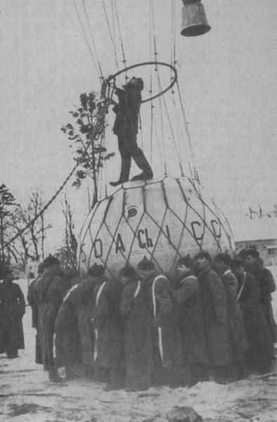 0.Подготовка к полету стратостата Осоавиахим-1.