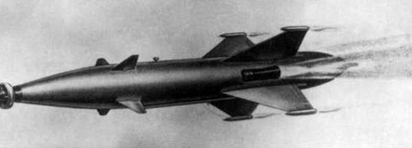 1.РС-1У в полете. Рисунок из техописания. 1955 г.