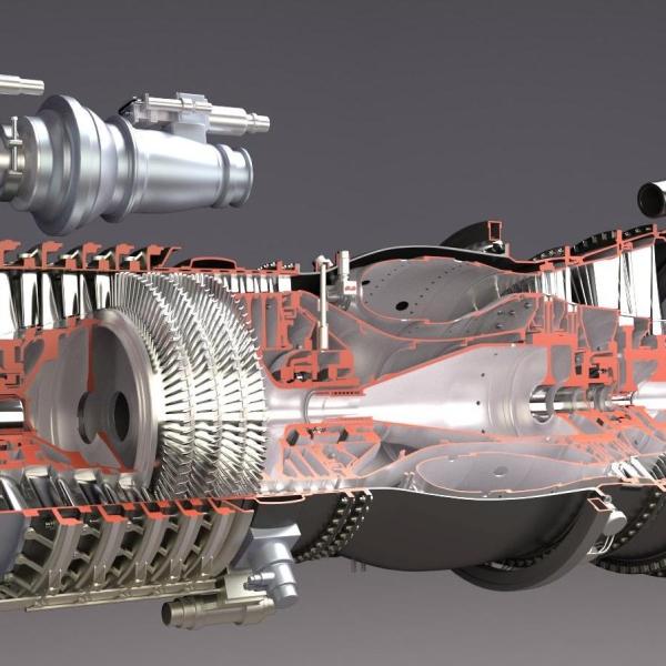 11.Двигатель ТВ3-117 в разрезе.