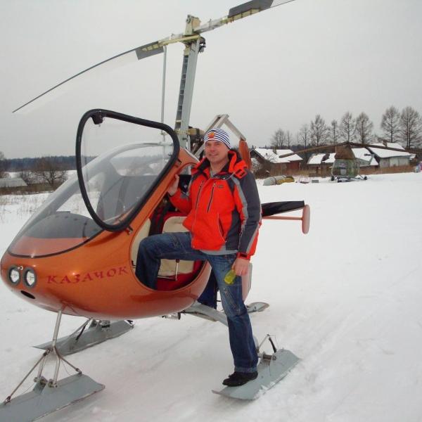 14.Автожир Казачок на лыжном шасси.