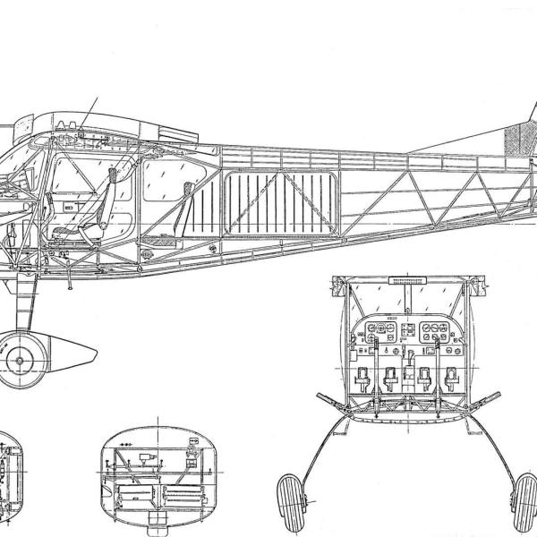 14.Т-411. Компоновочная схема.