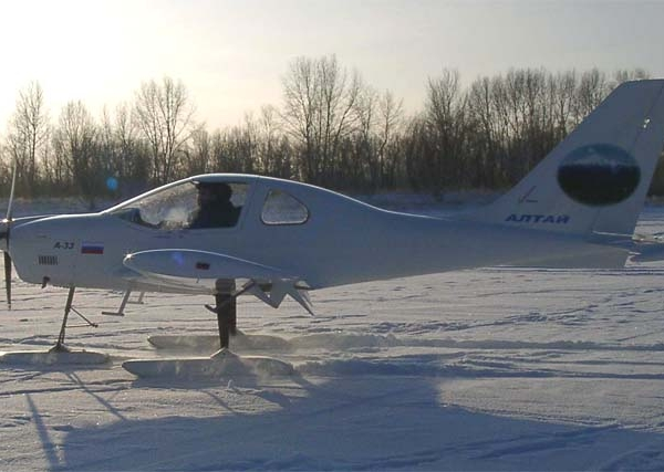 15.А-33 на лыжном шасси.