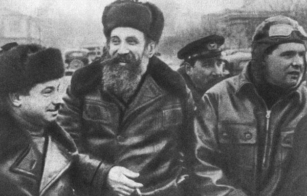 2.Михаил Васильевич Водопьянов с Отто Юльевичем Шмидтом и Иваном Дмитриевичем Папаниным.