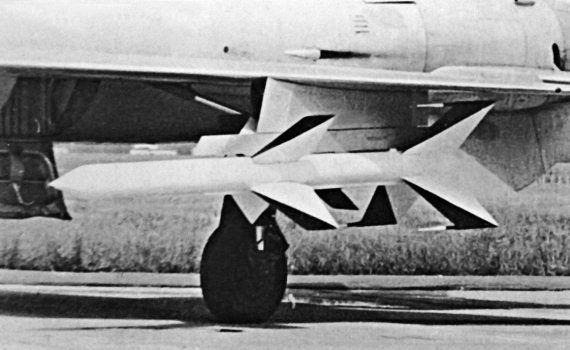 2.Ракета К-9 на истребителе Е-152А.