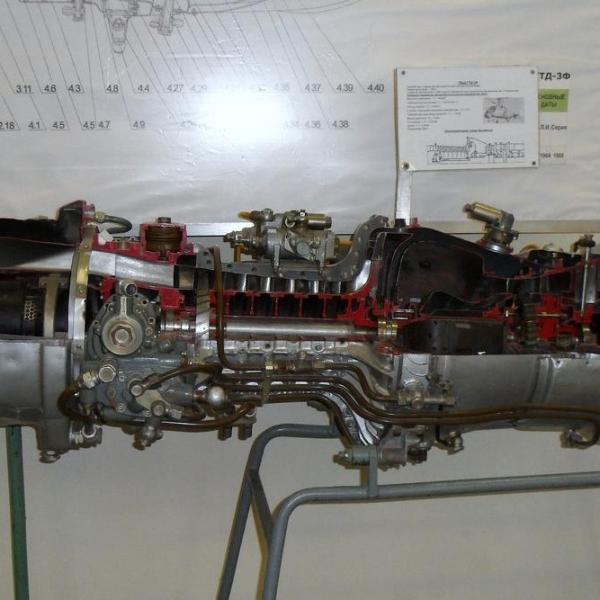 3.Двигатель ГТД-3Ф в качестве учебного пособия.