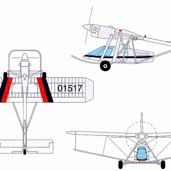3.Проекции Т-517. Рисунок.