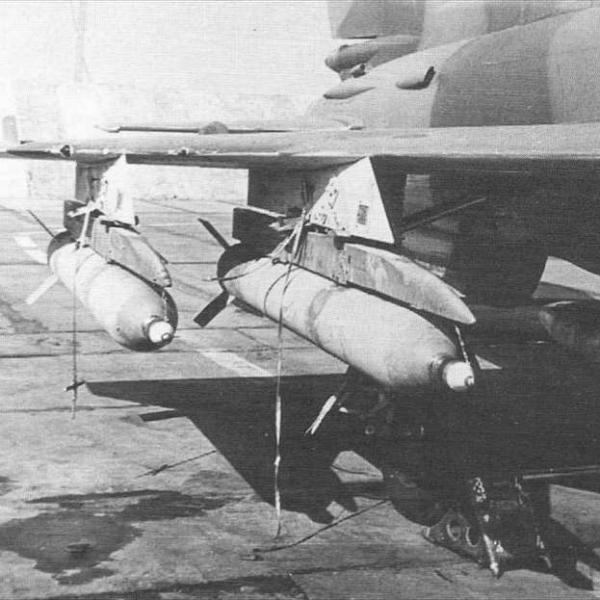 3.Реактивные снаряды С-24Б на истребителе МиГ-21бис.