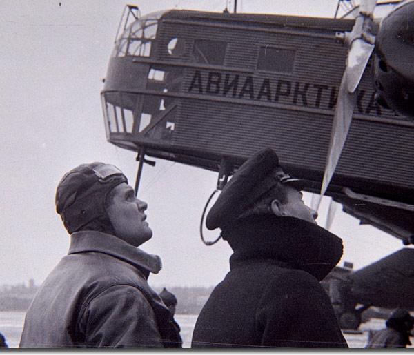 3.Водопьянов участвует в подготовке вылета на Северный полюс.