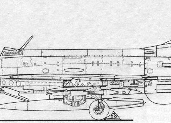 4.МиГ-21Ф с ракетами К-51 (К-5МС). Схема.