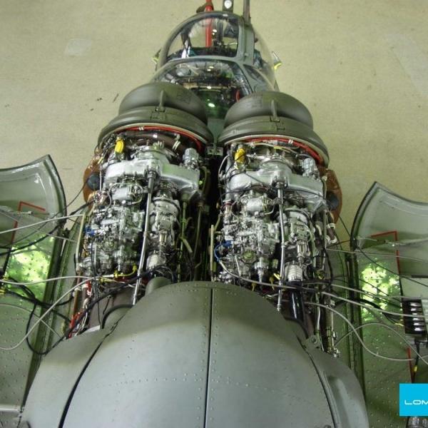 5.Двигатель ТВ3-117 на вертолете Ми-24.