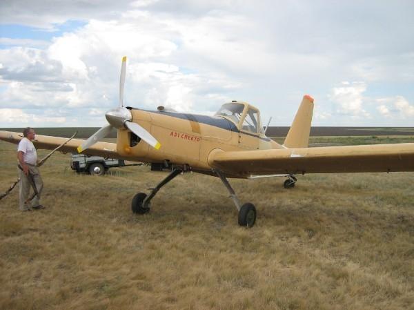 5.Самолет А-31 Спектр на сельхозработах.