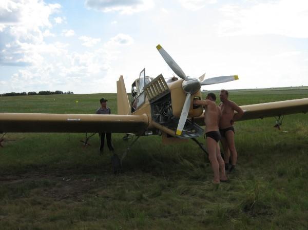 6.Самолет А-31 Спектр на сельхозработах.
