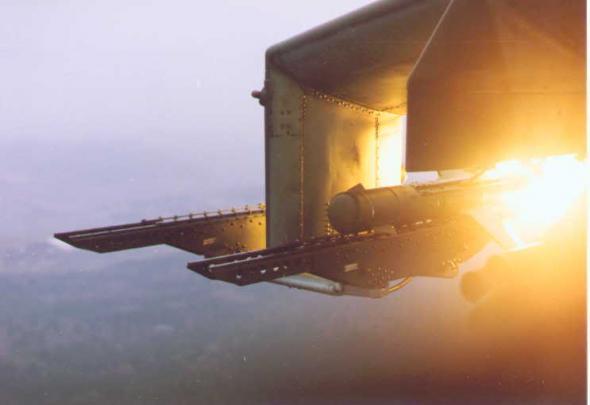 8.ПТУР Фаланга-М в момент пуска.