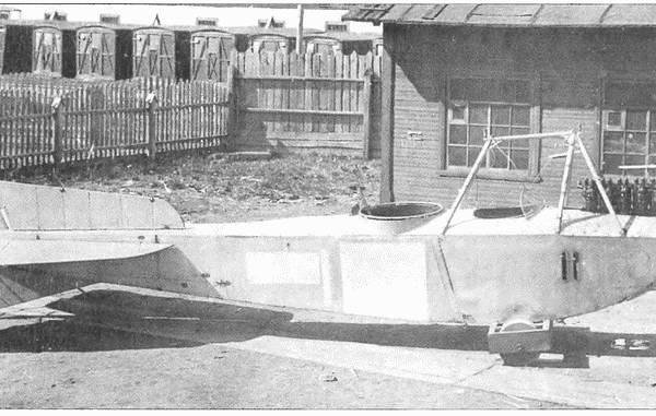 11.Немейкий самолет Фридрихсхафен FF33h во время изучения на заводе Лебедева.