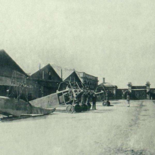15.Внутренний двор одесского завода Анатра в 1917 г.