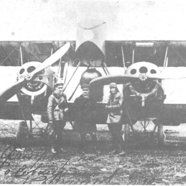 18.Самолет Хиони №4 с двигателями Salmson на Ходынском аэродроме. 2