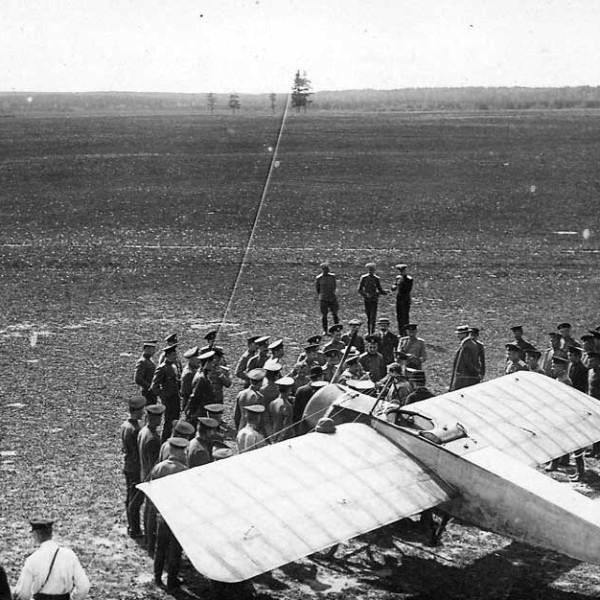 19.Morane-Saulnier G на конкурсе 1913 года.