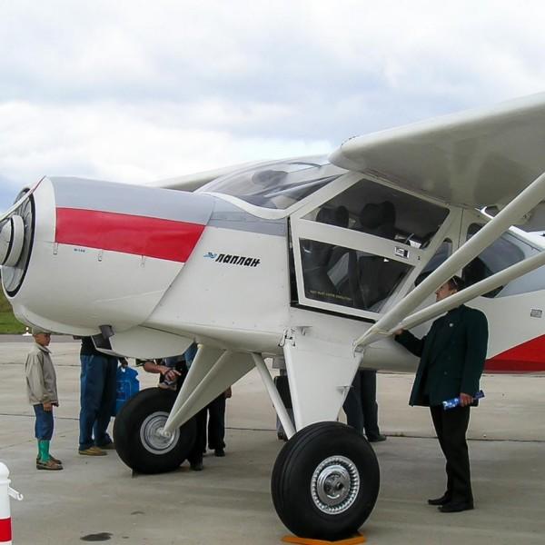 5.Самолет Л-451 на стоянке авиасалона МАКС-2005.