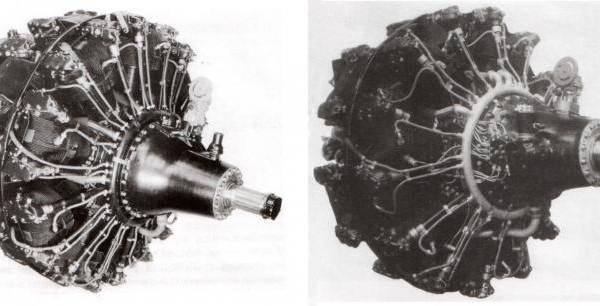 2.Двигатели М-71 (слева) и М-82Ф.