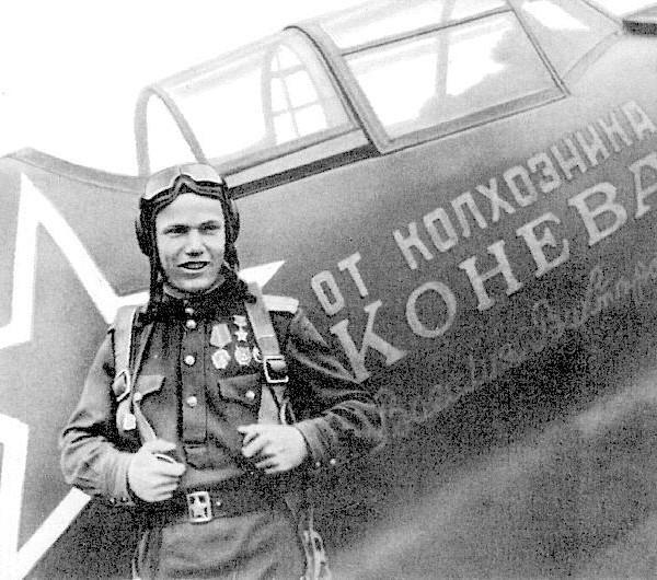 2.Иван Кожедуб у Ла-5Ф - подарока колхозника В.В.Конева.