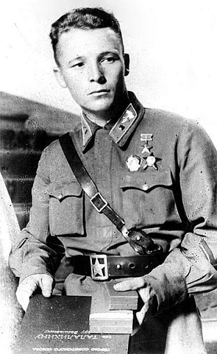Герой СССР Талалихин Виктор Васильевич.