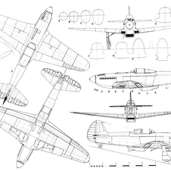 5.Як-3 ВК-108. Схема.