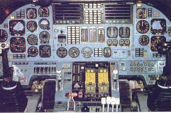 7в.Приборная панель пилотов Ту-160.