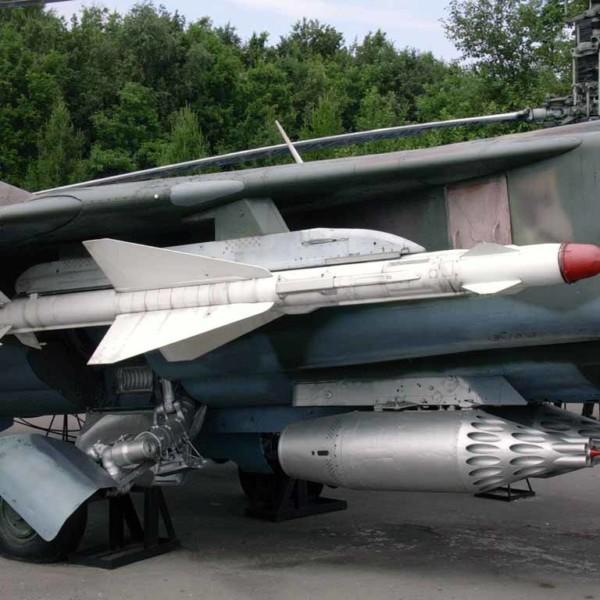 Р-23Т на пусковом устройстве АПУ-23М1 истребителя МиГ-23.
