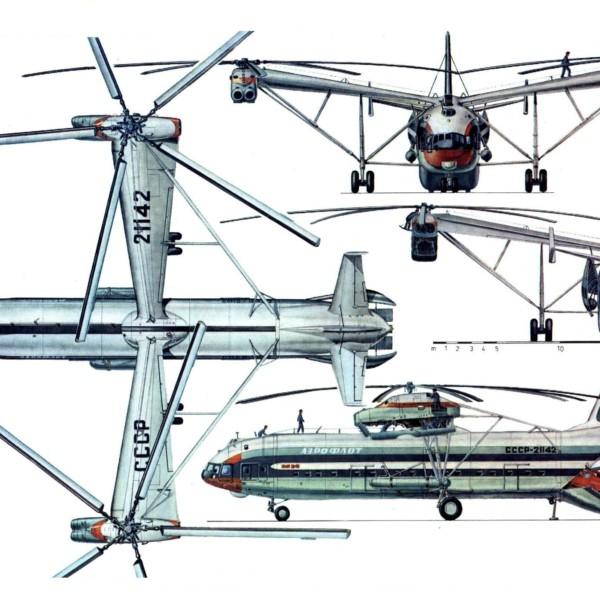 17.Проекции Ми-12. Рисунок.