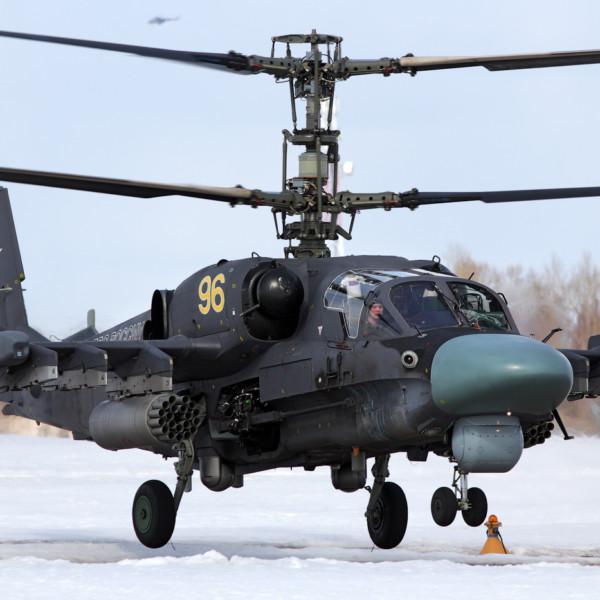 2а.Взлет Ка-52 ВВС России.