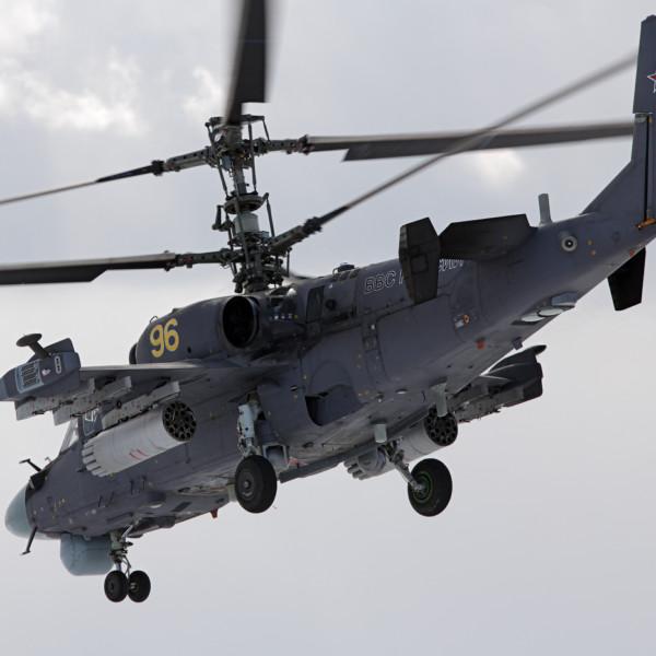 5.Ка-52 ВВС России в полете.
