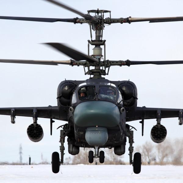 5б.Ка-52 ВВС России в полете.