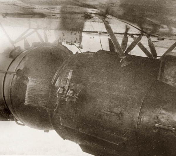 6.Мина МАВ-1, подвешенная под самолет ДБ-ЗТ. 1940 г.