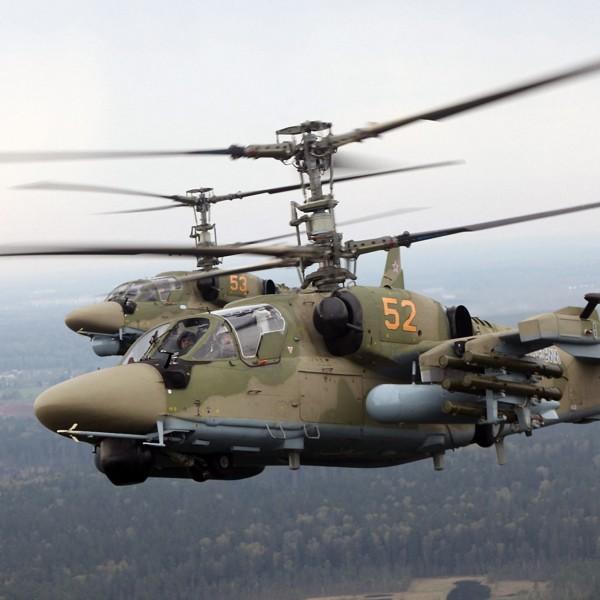 6.Пара Ка-52 ВВС России.